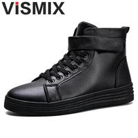 VISMIX 2017 Hot Men Shoes Fashion Warm Winter Men Boots Autumn Leather Footwear For Man New