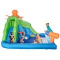 Yard uso doméstico corrediça de água inflável com piscina ao ar livre do partido quintal jogar castelo para as crianças