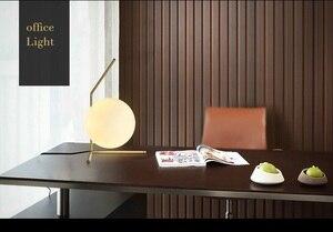 Image 2 - Modern LED Table Lamp Desk Lamp Light Shade Glass Ball Table Lamp Desk Light for Bedroom Living Room Floor Bedside Gold Designs