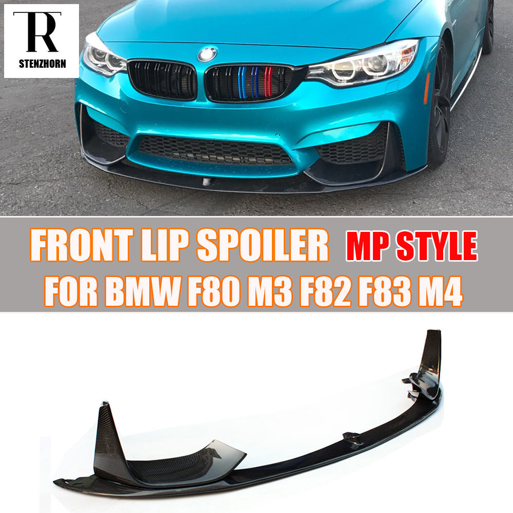 M3 m4 carbon fiber front bumper lip chin spoiler with removable side splitter for bmw f80
