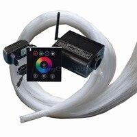 DC12V RGBW LED 16 W de lumière à fiber optique pilote + 2.4G contrôleur tactile + 500 PCS 0.75mm 2 m fin lueur PMMA fiber optique câble