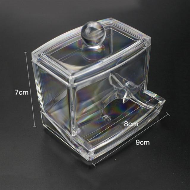 Acrylic Cotton Swab Storage Box Makeup Organizer Portable Container Make Up Cotton Pad Holder Cosmetics Organizer Storage Case