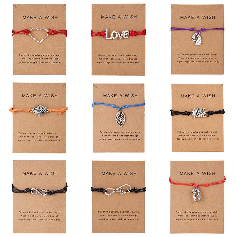 Stopy dziecka stopa miłość serce Charms regulowane bransoletki kobiety mężczyźni chłopcy dziewczęta biżuteria matka i dziecko mama i dziecko prezent