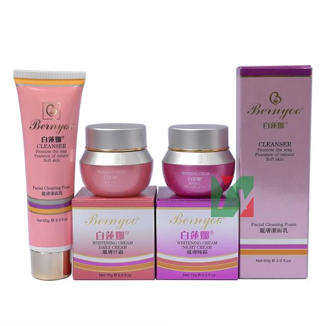 Cuidado de la piel original ~ ~ crema para blanquear la cara BAILIANNA crema de día + crema de noche pecas eliminación superfino