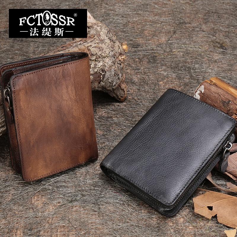 2018 New Arrival Women Wallet Genuine Leather Vintage Short Design Purse Female Coin Cell Phone Women Clutch Purse