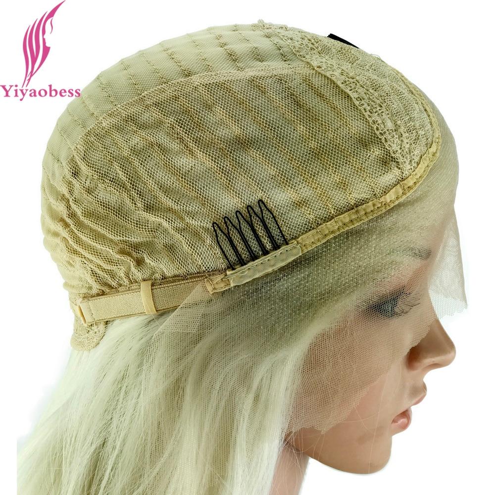 Yiyaobess Glueless Φυσική Λευκή Ξανθιά Ombre - Συνθετικά μαλλιά - Φωτογραφία 4