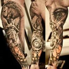 Унисекс УФ-защита наружные временные фальшивые татуировки рука рукав теплый рукав для женщин Мода рука грелка нейлоновый с имитацией татуировки рукава