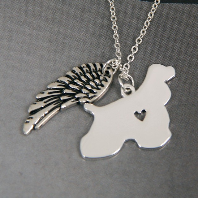 1pcs cocker spaniel my angel with wings dog lover necklace pendants 1pcs cocker spaniel my angel with wings dog lover necklace pendants charms gift jewelry necklace women aloadofball Image collections