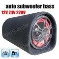 Nueva llegada de 5 pulgadas coche subwoofer para TF USB flash disk 12 V 24 V 220 V altavoz audio del coche bajo túnel para todos los coches de control remoto
