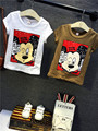 2016 Fashion Brand Boys Clothing Sets Summer Short Sleeve Mickey T shirt  Jeans Suit Free Shipping