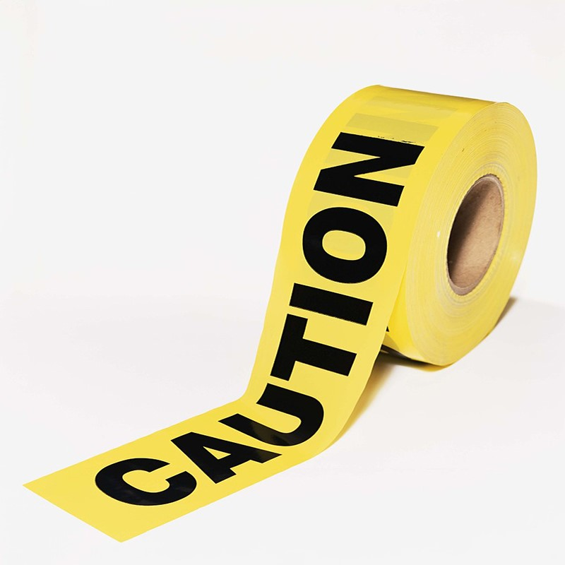 7.5cm X 100M /roll Yellow Caution Tape No Adhesive Warning Tape Safety Barrier Barricade Photo Photography Props Tapes