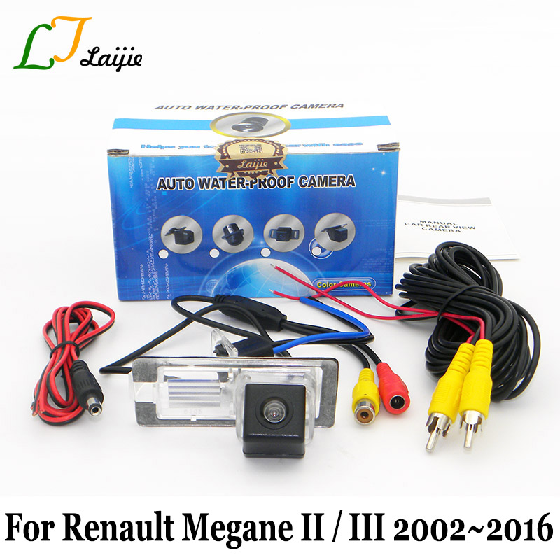 دوربین دید عقب Laijie برای Renault Megane 3 3 II III 2002 ~ 2016 / HD CCD Proof Water Water Proof Water Wide Lens Angle Reversing Camera