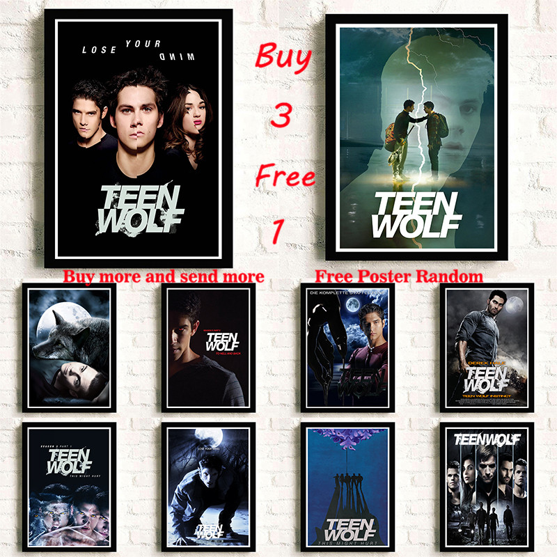 Teen Wolf White Coated Paper Movie Wall Stickers Clear Image Home Decoration Livingroom Bedroom Home Frameless