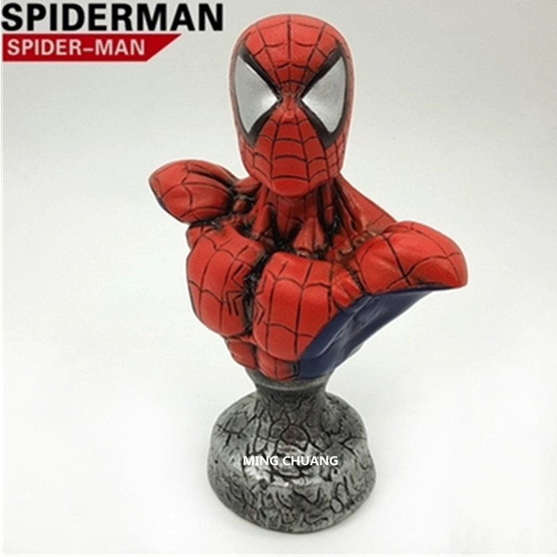 The Amazing Spider-Man Statue Superhero Peter Parker Bust Resin Action Figure Collectible Model Toy D264 amazing spider man the clone conspiracy