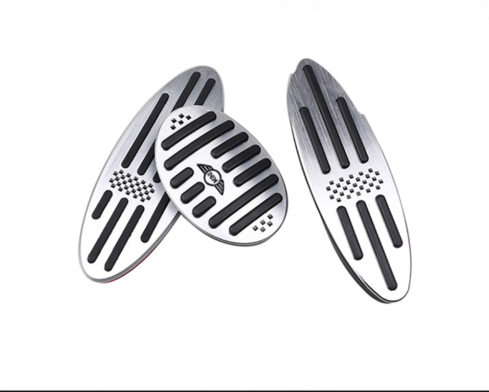 Image 5 - Car Accessories for BMW Mini Cooper S R55 R56 R60 R61 F54 F55 F56 F60 Aluminum Footrest Gas Brake Clutch Pedal Cover F56 F60 F55-in Automotive Interior Stickers from Automobiles & Motorcycles