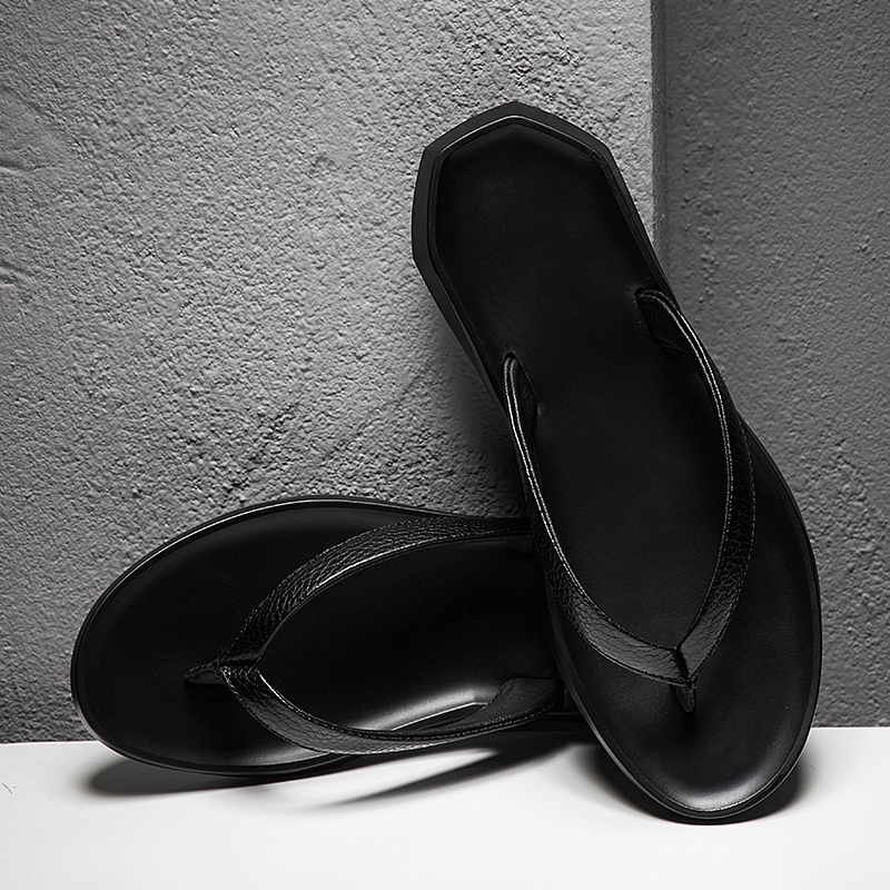 c64e836c6799 Fashion Genuine leather Men s flip flops Outdoor waterproof Beach sandals  Summer Men Slippers Zapatos De Hombre plus size 37 45-in Flip Flops from  Shoes on ...