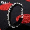Beier стерлингового серебра 925 браслет высокого качества браслет ссылка классический панк корона браслет ручной цепи SCTYSL0036