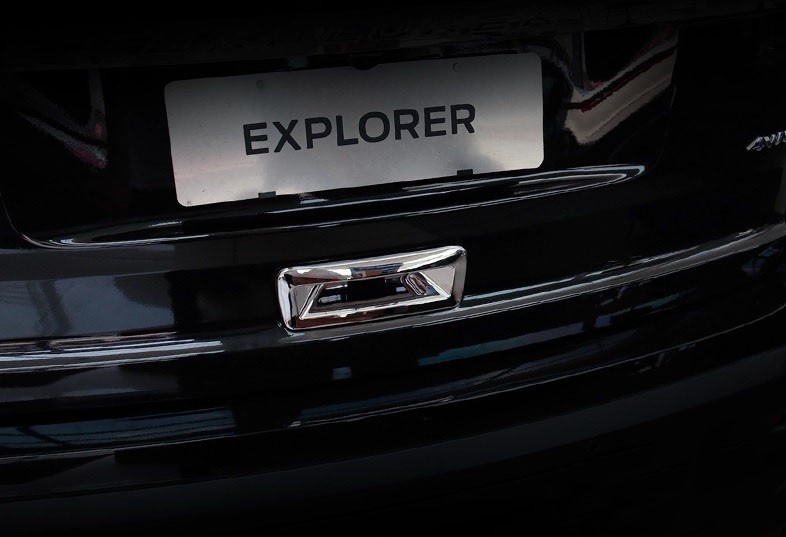 accessories for ford explorer abs chrome rear trunk door handle trim. Cars Review. Best American Auto & Cars Review