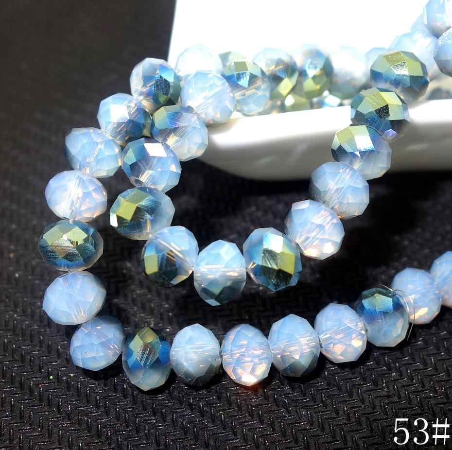 6x4mm Lots Glass Crystal Faceted Shiny Rondelle Beads Spacer Findings 50//100Pcs