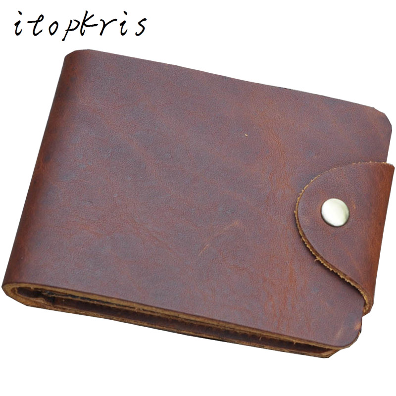 Itopkris High Quality Men Genuine Leather Wallet Cowhide Leather Male Short Purse Multi-Function Card Holder Wallet Coin Pocket genuine cowhide leather men wallet short coin purse multi card bit wallets brand high quality dollar vintage male card holder