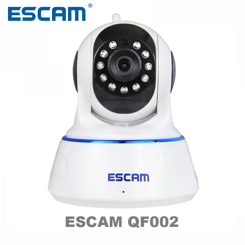 Escam 720P QF002 Indoor Network WIFI IP Camera infrared support P2P IR-Cut Smartphone H.264 Pan/Tilt PT Wireless MAX 32G TF Card