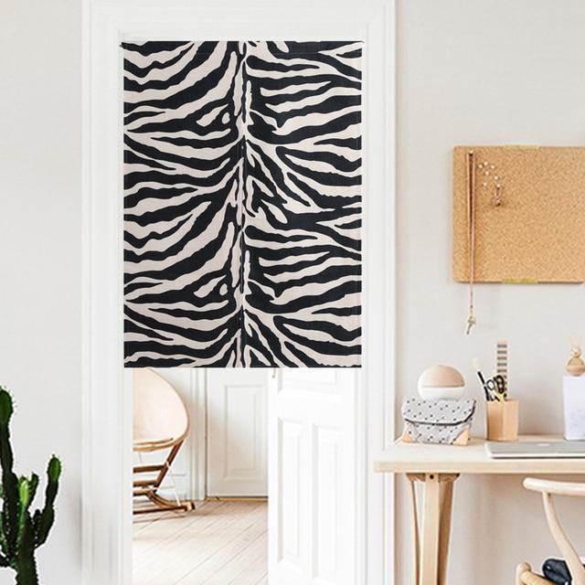 Zebra Geometrie Schwarz weiß klassische Einfache moderne Tür Vorhang ...