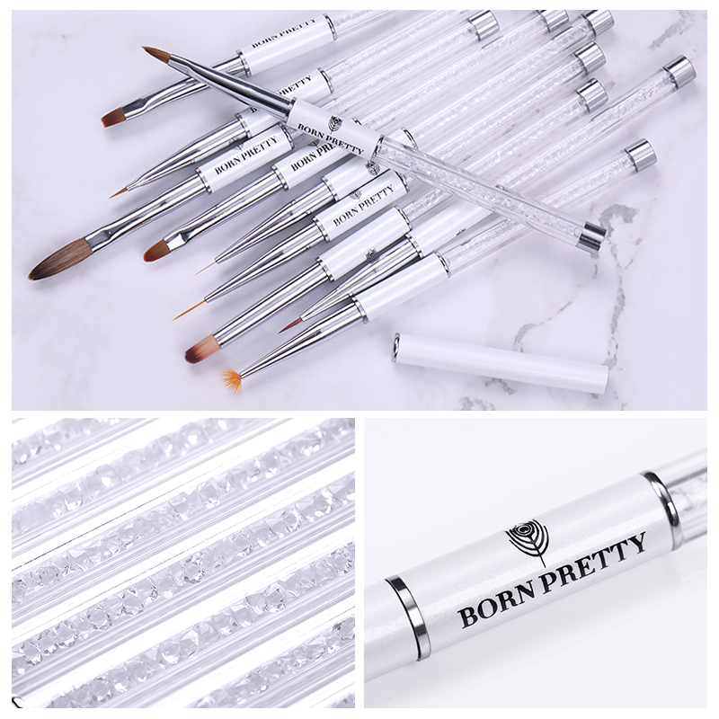 BORN PRETTY Gradient Nail Brush Liner Painting Drawing Nail Brushes for Detailing Blending Stripling in Nail Brushes from Beauty Health