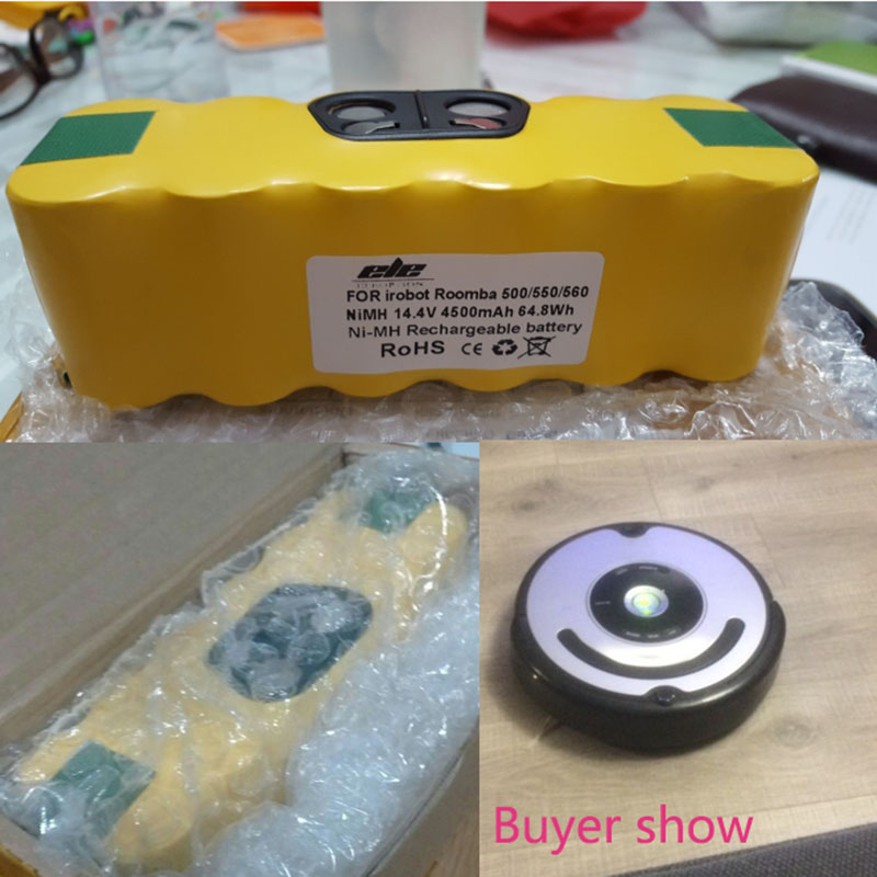 4500mAh 14 4V 4 5mAh Battery For iRobot Roomba Vacuum Cleaner 500 530 550  552 560 570 580 595 650 660 780 790 870 900 980