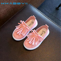 KKABBYII Kids Shoes Girls Leather Shoes Princess Tassel Flats Children Shoes Girls Cute Sneakers For Toddler