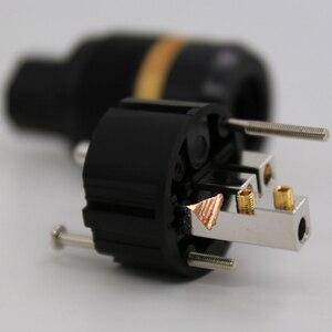 Image 3 - 1 XPair Viborg VE501R + VF501R Pure Copper Rhodium IEC Conector de Áudio Schuko Plugue de Energia DA UE para DIY Elétrica cabo de alimentação
