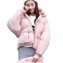 Новые зимние пальто 2017 повседневная толстая плюс размер женщин битой рукавами пальто верхняя одежда женщин куртки Теплые Хлопка мягкой Женщины куртка