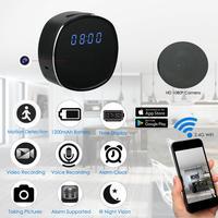 Smart Clock Mini Camera Wifi 1080P P2P WebCam Remote Monitor Motion Detection IR Night Vision Surveillance