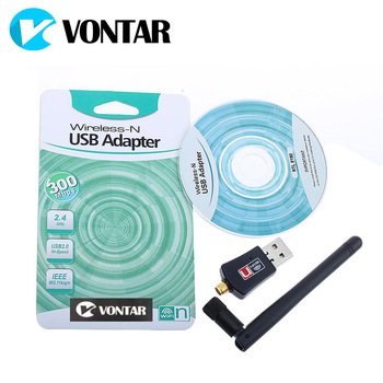 300Mbps Wireless Wifi Adapter USB Wifi Receiver 2.0 with 2dBi Antenna Lan Network Card 802.11n/b/g For PC Computer Desktop