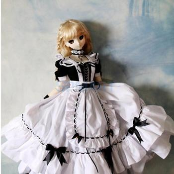 13 BJD Smart Doll Clothes Lolita Dress Japanese Anime Maid Uniform for Supper Dollfie DOD Cosplay Outfit Платье