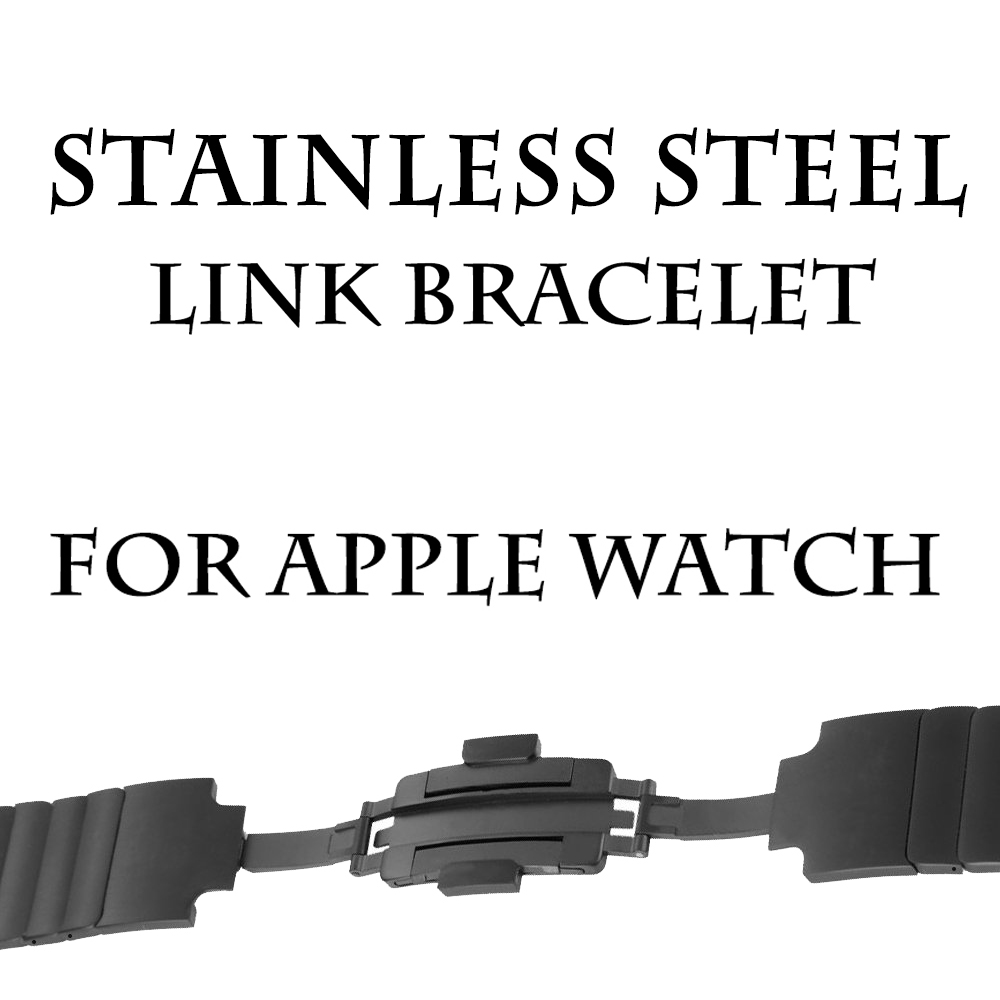 Stainless Steel Bracelet Replacement Strap Watchband Wrist Band Strap for Apple Watch Sport & Edition 42mm/38mm Series 3/2/1 stylish 29 led 3 color light digit stainless steel bracelet wrist watch black