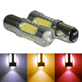 2x S25 1157 BAY15D COB With Lens 360-Degree Driving Lamp Bulb Car Brake Back-Up Sourcing Light White/Red/Amber
