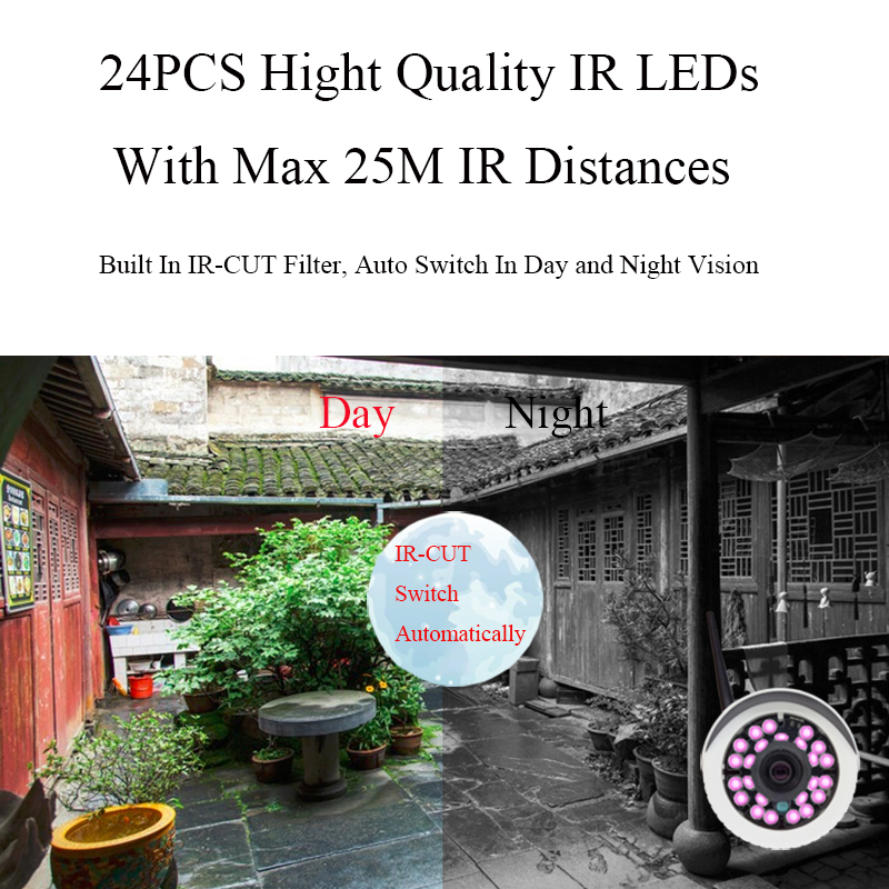 Image 5 - HD 1080P 2MP Audio Wireless IP Camera WiFi 720P Outdoor Night Vision CCTV Camera Surveillance Security Waterproof Onvif Camera-in Surveillance Cameras from Security & Protection