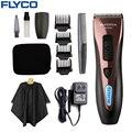 FLYCO профессиональные триммеры для волос из нержавеющей стали, водонепроницаемые электрические машинки для стрижки волос для мужчин, светод...