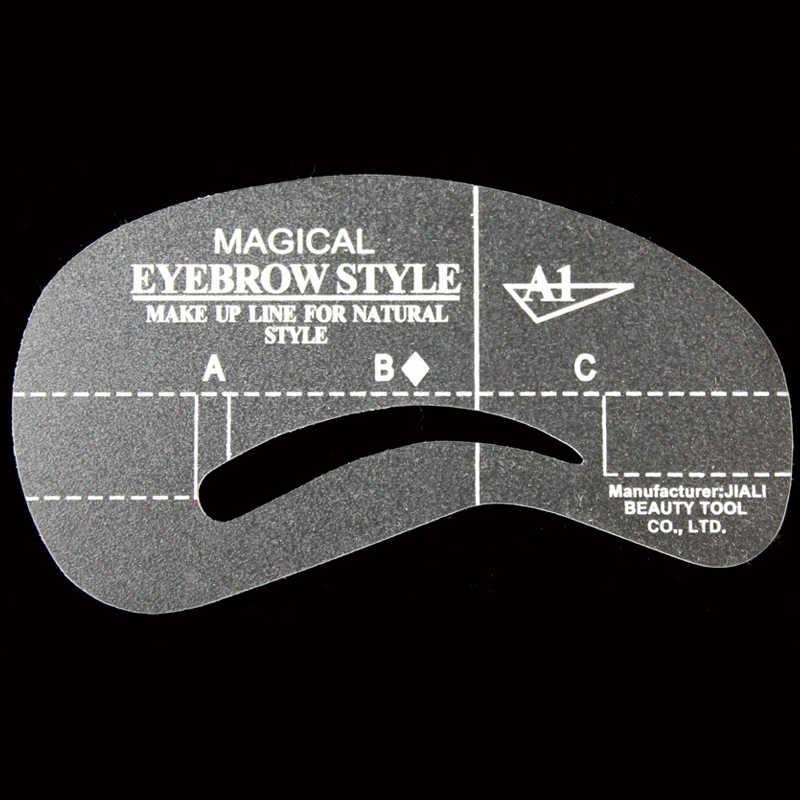 4 шт трафарет с маской бровью стили макияжа трафарет для бровей шаблона рисунок составляют Форма инструмента для Eyebrols аксессуары
