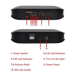 Image 3 - Lomeho LO V06 Dual Handheld VHF Frequenzen Dynamische Kapsel 2 kanäle Drahtlose Mikrofon für Karaoke System