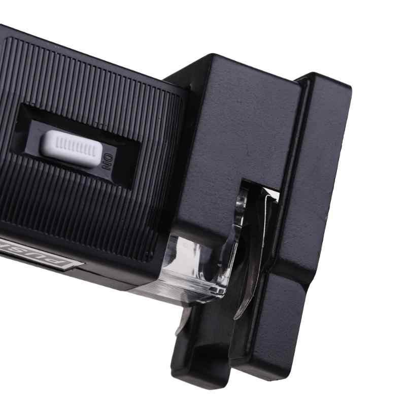 Mini przenośne urządzenie kieszeni Zoom 60X-100X oświetlony lupa mikroskopowa Loup obiektyw ze stojakiem przez baterie AA