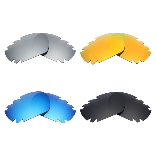 dd7a7564f49 4 Pairs Mryok POLARIZED Replacement Lenses for Oakley Jawbone Vented  Sunglasses Stealth Black   Ice Blue   Fire Red   Silver