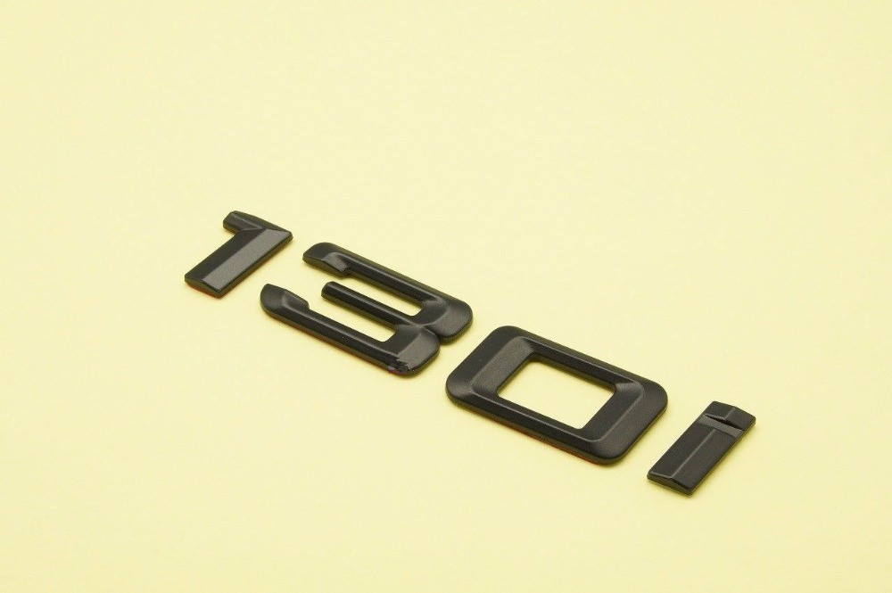 Matte BLACK 130i REAR TRUNK LETTERS BADGE EMBLEM FOR BMW 1-SERIES E81 E87 E88 F20