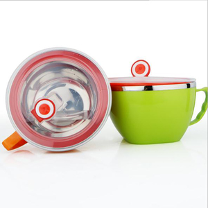 ONEUP Lunch box Instant Noodle Bowl With Lid With Leakproof Stainless Steel Food Rice Soup Portable Container school