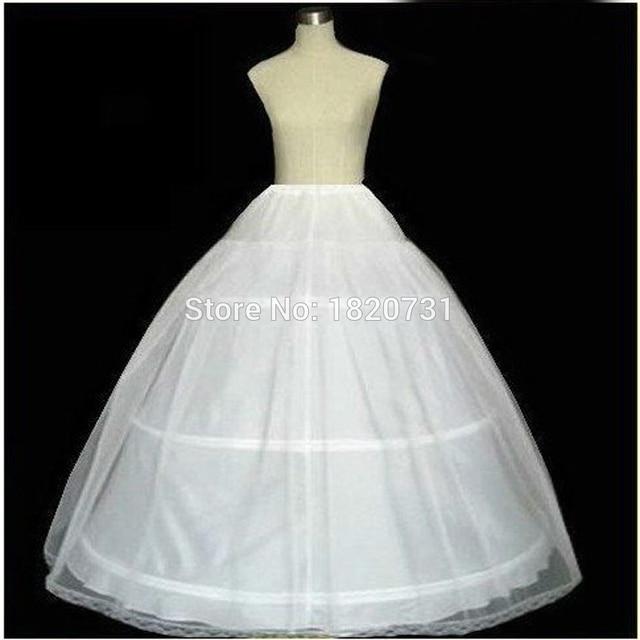 In Stock 2017 Hot Sale 3 Hoop Ball Gown Bone Full Crinoline Petticoats For Wedding Dress Wedding Skirt Accessories Slip