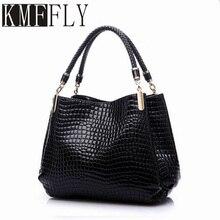 KMFFLY 2017 Alligator Leder Frauen Handtasche Mode Berühmte Marken Design Schultertasche Schwarz Tasche Damen Sac Frauen Handtaschen