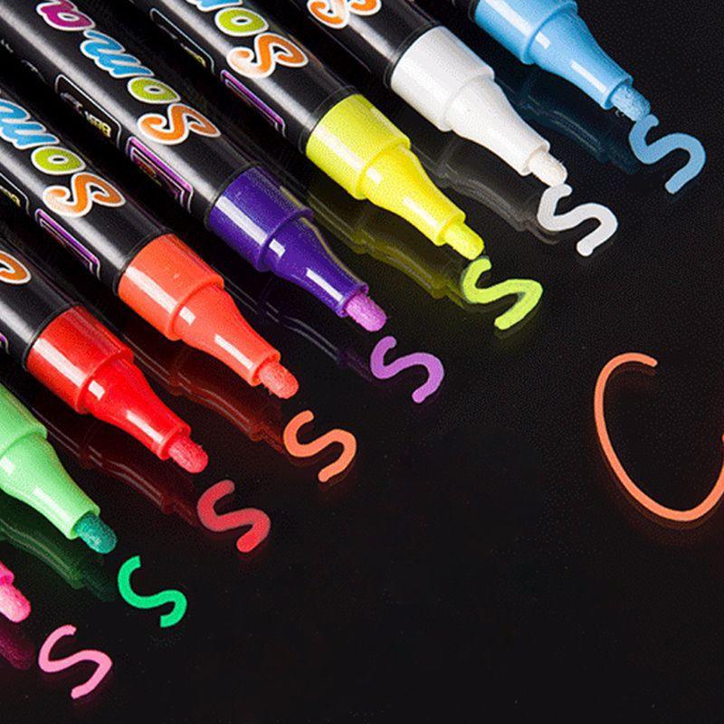 8 cores marcador fluorescente liquido chalk caneta 01