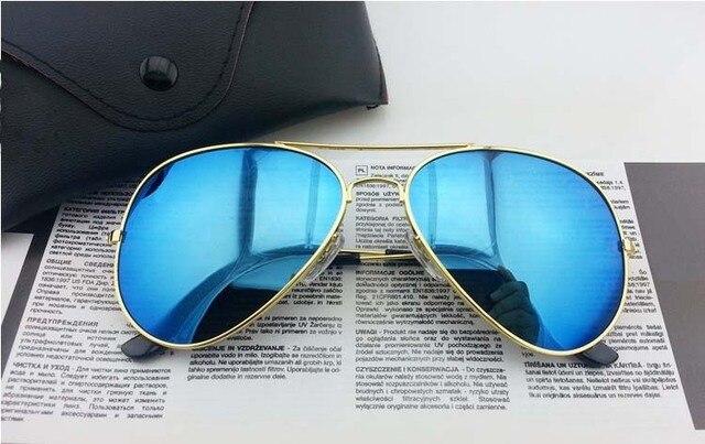 d3264e4e1f A Full Blue Mirrored Aviator 3025 Sunglasses Dark Tint Lens Silver Frame  UV400 BNWT 3025 Eyewear Sunglasses