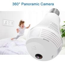 360 degree Camera Wireless IP LED Light Bulb Mini Camera 1.3MP 960P Security Bulb WIFI Camera Panoramic Fisheye Light Lamp