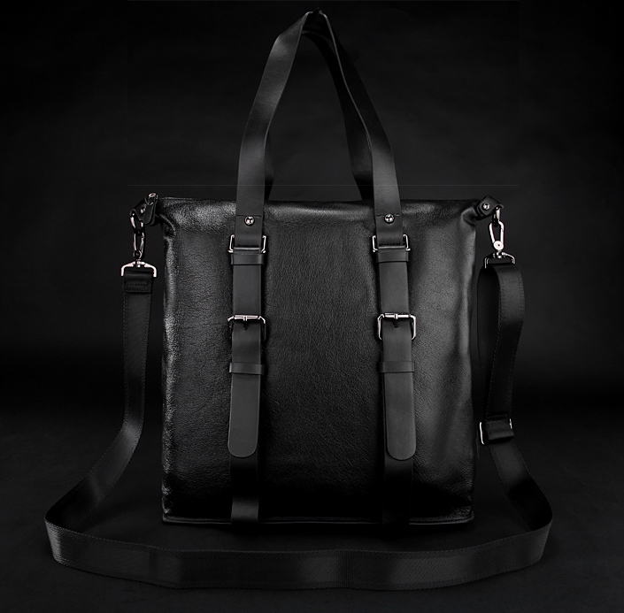 New Mens Black Brown Real Italian Leather Messenger Satchel Shoulder Bag M001